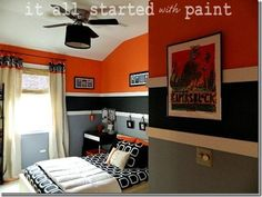 Like this paint treatment/color of this boys bedroom...