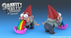 http://beffana.deviantart.com/art/Gravity-Falls-Puking-Rainbow-Gnome-fanart-465347553