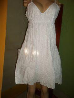 Brecho Online - Belas Roupas: Vestido Branco Lesie
