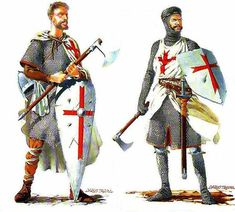 There was a threefold division of the ranks of the Templars: the noble knights, the non-noble sergeants, and the chaplains. The Templars did not perform knighting ceremonies, so any knight wishing to become a Knight Templar had to be a knight already. They were the most visible branch of the order, and wore the famous white mantles to symbolize their purity and chastity.