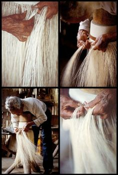 Jose Espinal weaves an original panama hat