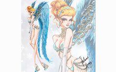 Artista transforma as princesas da Disney em angels da Victoria's Secret - Moda - Cinderela