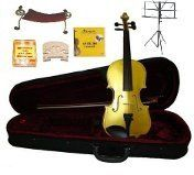 GRACE 18 Size Yellow Acoustic Violin with Case and BowRosin2 Sets Strings2 BridgesTunerShoulder RestMusic Stand *** Continue to the product at the image link.Note:It is affiliate link to Amazon.