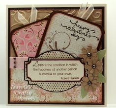 Happy Valentine's Day by jeannegirl - Cards and Paper Crafts at Splitcoaststampers Cute Valentine Ideas, Happy Valentines Day, Valentine Cards, Holiday Cards, Christmas Cards, Pocket Cards, Pretty Cards, Paper Crafts, Paper Art
