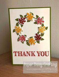 Paper Daisy Crafting: Stampin' Dreams September blog hop - Favourite Season Autumn Day, Autumn Leaves, Paper Daisy, You Are Invited, Blue Box, Pretty Flowers, Stampin Up, Give It To Me, Things To Come