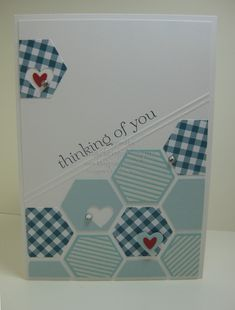 Punched Six-Sided Sampler www.magpiecreates.com #stampinup #magpiecreates #hexagons