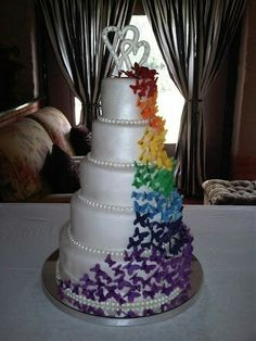 Wedding cake colourful candy land