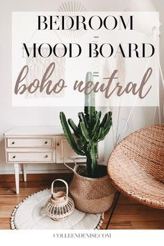 bedroom mood board boho neutral. summer aesthetic, natural, nude colors and tones. tans, pinks, greens, browns, nudes, perfect for the spring and summer time. #bedroom #interiordesign #boho #neutral