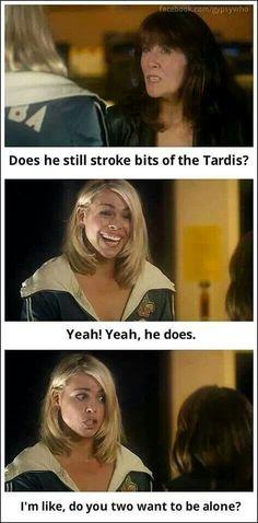 Stroking the TARDIS?