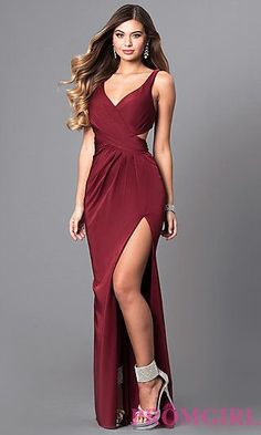 V-Neck Prom Dress with Open Back by Faviana 5d29f90d5