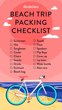 Packing List For Beach Vacation Summer Necessities 2018 - Hawaii - Beach Vacation Tips, Travel Packing Checklist, Beach Vacation Packing List, Packing Lists, Vacation Travel, Beach List, Travel Essentials, Beach Vacations, Suitcase Packing
