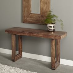 The Coast to Coast Imports Brownstone Console Table is a versatile piece that works well in an entryway, hallway, or living room. Decor, Furniture, Wall Decor, Rustic Consoles, Table Design, Rustic Furniture, Home Decor, Contemporary Console Table, Diy Console Table