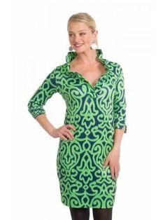 Arabesque Ruffleneck Jersey Dress by Gretchen Scott
