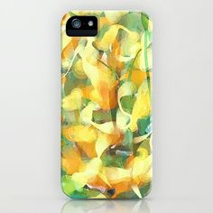 Golden Leaves: Abstract Art iPhone & iPod Case by Tina Carroll | Society6. #onlineshopping #shopping #gifts #christmas #iphonecase  #blisslist Buy it with BlissList: https://itunes.apple.com/us/app/blisslist-easy-shopping-gifting/id667837070
