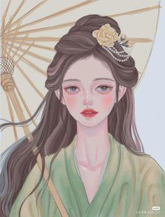 Girly Drawings, China Art, Anime Fantasy, Eye Art, Big Eyes, Anime Art Girl, Princess Zelda, Cartoon, Face