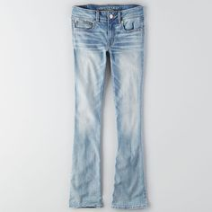 AEO Kick Boot Cut Jeans ($40) ❤ liked on Polyvore featuring jeans, forever light, american eagle outfitters, boot cut jeans, mens jeans, boot-cut jeans and bootcut jeans