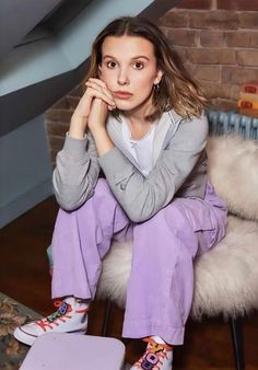 Brown Converse, Millie Bobby Brown, Dresses With Sleeves, Long Sleeve, Ell, Collection, Style, Fashion, Swag