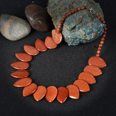 K's Gadgets Big Gold Sand Stone Necklaces Vintage Accessories Hyperbole Handmade Natural Stones Statement Necklace Women Jewelry #Affiliate