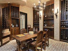 Classic Old World Wine Cellar with Large Wine Crate Shelving Wine Shelves, Crate Shelves, Shelving, Wine Storage, Interior Styling, Interior Design, Interior Ideas, Interior Architecture, Gothic Interior