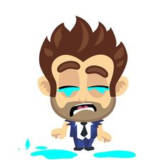 Crying Cartoon, Cartoon Boy, Cartoon Gifs, Animated Cartoons, Man Crying Gif, Crying Michael, Crying In The Shower, Animated Man, Gif Collection