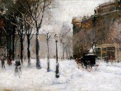 Paul Cornoyer - Winter in New York 1901