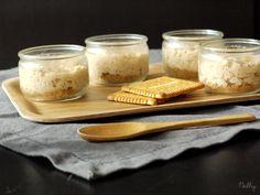 Petits pots de riz au lait façon cheesecake au coulis de Petit beurre/chocolat