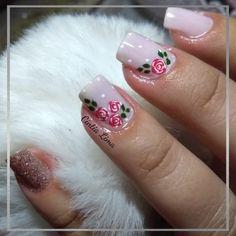 Cute Animal Photos, Erika, Nail Ideas, Nails, Fairy, Work Nails, Toe Nail Art, French Tips, Nail Manicure