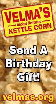 http://velmas.org - Birthday gifts for him & her, men & women. Send a box of kettle corn for $20 #birthday #gifts #him #her #men #women #birthdaygifts