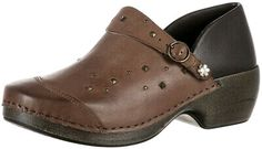 Rocky 4EurSole Studded Leather 3 in 1 Work Comfort Clog Shoe US 10-10.5 EU 41 | eBay Clogs Shoes, Flats, West New York, Stunning Women, Studded Leather, Athletic Shoes, Slip On, Brand New, Brown