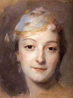 Portrait of Marie Fel     Maurice Quentin de La Tour · 1757