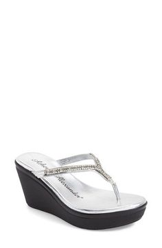 f82daf9a7760 Free shipping and returns on Athena Alexander  Astraa  Crystal Embellished  Wedge Sandal at Nordstrom