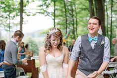 Confetti Bride Groom Whimsical Mountain Cabin Wedding North Carolina http://www.revivalphotography.com/