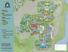 All Star Movies Resort Map Walt Disney World