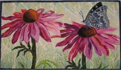 Butterfly On A Cone Flower 40x28 - Art Quilts - Gallery - MQR Forums