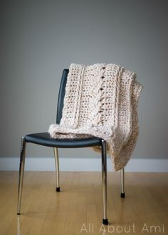 Chunky Braided Cabled Blanket 2