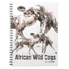 African Wild Dogs Photo Notebook