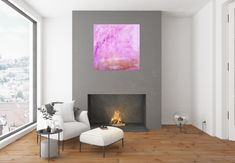 Under the Cherry tree - Ivana Olbricht Pink Painting, Light Painting, Acrylic Painting Canvas, Abstract Paintings, Pink Abstract, Pink Marble, Cherry Tree, Golden Color, Abstract Styles