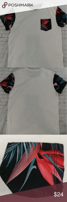 Zara Man T-Shirt Stylish Zara Man T-Shirt with floral pocket and sleeves , Super sharp, Size Medium. Sorry no trades accepted. Thank you for checking out my closet. Zara Shirts Tees - Short Sleeve