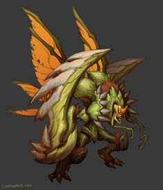Concept Art World, Creature Concept Art, Creature Design, Fantasy Monster, Monster Art, Fantasy Creatures, Mythical Creatures, League Of Legends, Digimon