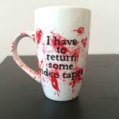American Psycho bloody mug. | 31 Creepy Items Every Horror Fan Should Own. I kinda need all of these things