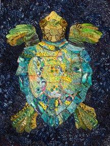 Serendipitous Sea Turtle #quilt by Susan Carlson