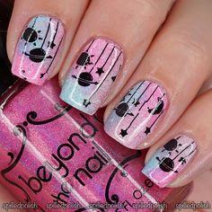 Galaxy Nails #notd #indiepolish #nailart