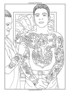 Body Art Tattoo Colouring Book Marty Noble