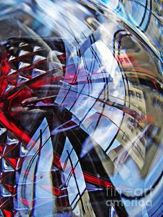 Glass Abstract 220     by S Loft  glass, abstract, reflections, prints, greeting cards, canvas prints, metal prints