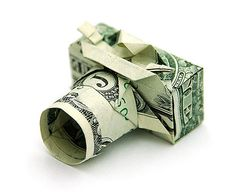 How to Fold an Origami Camera Using a Dollar Bill