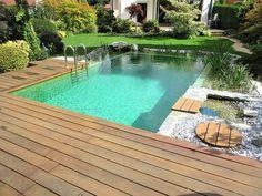 Small Backyard Design, Backyard Garden Design, Ponds Backyard, Small Backyard Landscaping, Backyard Ideas, Natural Swimming Ponds, Swimming Pools Backyard, Swimming Pool Designs, Indoor Water Fountains