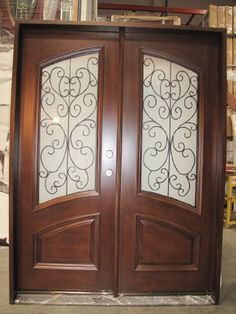$2,695-Double Front Entry Door Unit Pre-hung & Finished w/ Iron with Frosted Glass, DMH7619-5 LH--HIGHEST QUALITY APP DOORS http://www.amazon.com/dp/B00IJGIFIG/ref=cm_sw_r_pi_dp_8V3Fwb0KWSBHH