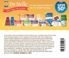 $0.50 off any TreStelle cheese - exp 31/10/14  #printable #coupon #instore