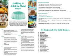 Tupperware Jel ring & jel ettes recipes and cooking guide 2018 by TW Consultant - Issuu