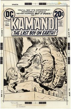 Gallery of Comic Art by Jack Kirby : Kamandi, The Last Boy on Earth, Issue 7, Cover : What if Kirby